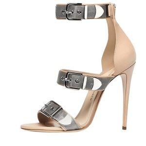 Paul Andrew Runway Ingrid Leather Heel Sandals